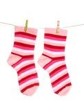 Colgante de los calcetines Fotografía de archivo libre de regalías