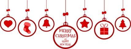 Colgante de los elementos de la Navidad Imágenes de archivo libres de regalías