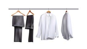 Colgante de los pantalones y de las camisas ilustración del vector