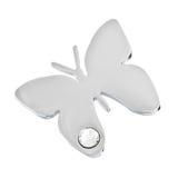 Colgante de plata en la forma de una mariposa Fotografía de archivo