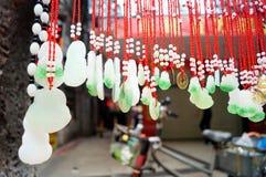 Colgante del colgante del jade Foto de archivo libre de regalías