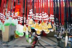 Colgante del colgante del jade Imagen de archivo libre de regalías