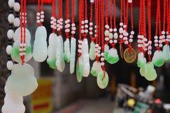 Colgante del colgante del jade Fotos de archivo libres de regalías
