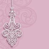 Colgante del cordón en fondo rosado ornamental Foto de archivo