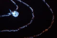 Colgante del diamante Imagen de archivo libre de regalías