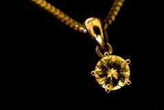 Colgante del diamante Imágenes de archivo libres de regalías