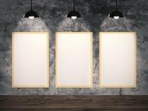 Colgante en blanco de tres marcos Imagen de archivo libre de regalías