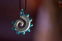 Colgante espiral de cristal Imagenes de archivo