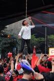 Colgante falso en una protesta de la Rojo-Camisa en Bangkok Fotos de archivo libres de regalías