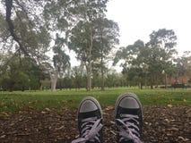 Colgante hacia fuera en el parque Fotos de archivo libres de regalías