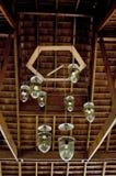 Colgante ligero con el techo de madera Imagen de archivo libre de regalías