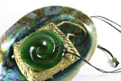 Colgante tallado de la diorita del jade Fotografía de archivo libre de regalías