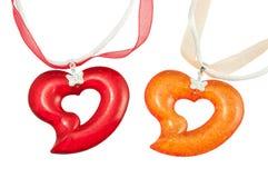 Colgantes del corazón Imagen de archivo