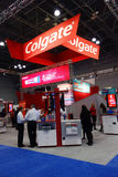 Colgate booth at the Greater NY Dental Meeting in New York. Royalty Free Stock Images