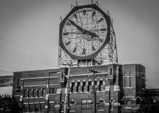 Colgate Clock in Clarksville Indiana. The Colgate Clock, located at a former Colgate-Palmolive factory in Clarksville, Indiana, is one of the largest clocks in royalty free stock photos