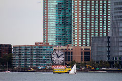 The Colgate Clock, in Jersey City, New Jersey. Stock Image