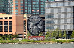 Colgate Clock in New Jersey Stock Image