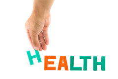 Colha acima do alfabeto de H do fraseio da saúde Fotografia de Stock Royalty Free