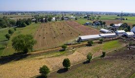 Colheita Amish dos fazendeiros foto de stock royalty free