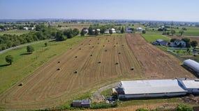 Colheita Amish dos fazendeiros imagem de stock