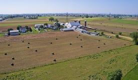 Colheita Amish dos fazendeiros imagens de stock