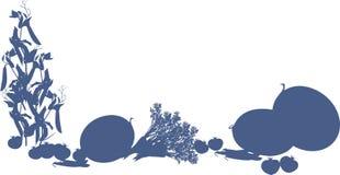 Colheita da ilustração dos vegetais no fundo branco Imagem de Stock