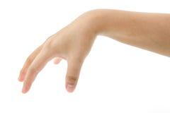 Colheita da mão algo fotografia de stock royalty free