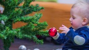 colheita das decorações do Natal video estoque