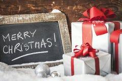 Colheita de presentes do Natal Imagens de Stock