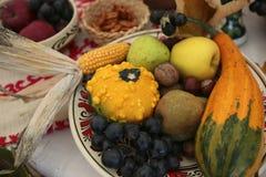Colheita do outono das frutas e verdura Imagem de Stock Royalty Free