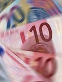 Colheita ereta de Euros de giro ilustração stock