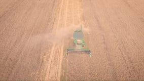 Colhendo a vista aérea Cena da agricultura filme