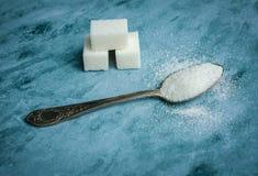 Colher com açúcar Fotos de Stock