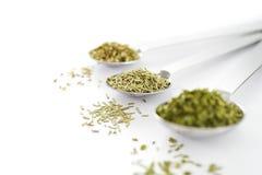 Colher com ervas secadas Imagens de Stock