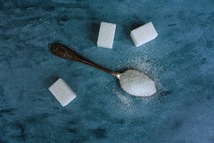 Colher completamente do açúcar Foto de Stock