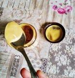 Colher da manteiga de amendoim fotografia de stock royalty free