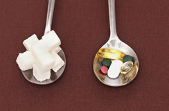 Colher de açúcar Imagens de Stock Royalty Free