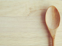 Colher de madeira Imagens de Stock