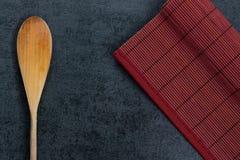 Colher de madeira Foto de Stock