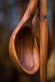 Colher de madeira do vintage Fotografia de Stock Royalty Free