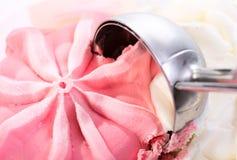Colher do gelado de morango Imagem de Stock Royalty Free