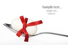 Colher do ovo de Easter Imagens de Stock