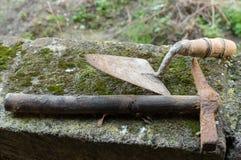 Colher e martelo Imagem de Stock