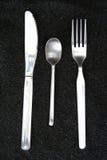 Colher, faca e forquilha Imagem de Stock Royalty Free