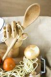 Colher na mão de madeira Imagens de Stock Royalty Free