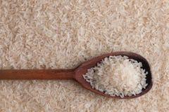 Colher no arroz branco Fotos de Stock Royalty Free