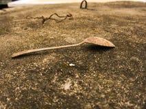 Colher oxidada Foto de Stock