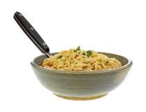 Colher picante da bacia de sopa do macarronete Fotografia de Stock Royalty Free