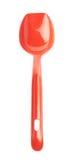 Colher plástica vermelha da cozinha isolada Imagens de Stock Royalty Free