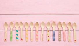 Colheres coloridos do chá Fotos de Stock Royalty Free